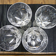 Set of 4 St Louis crystal glasses
