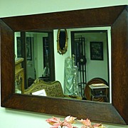 REDUCED Large mirror in an early 19th century walnut burl frame