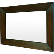 REDUCED Large vintage mirror in an older walnut frame