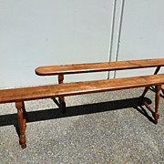REDUCED 19th century - Pair of Provincial cherry wood benches
