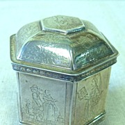 REDUCED Small sterling octagonal box
