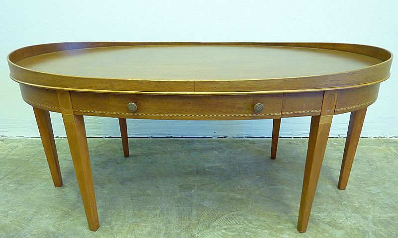 Vintage Oval Coffee Table Oval Mahogany Coffee Table by