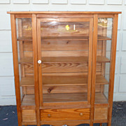 REDUCED American pine bookcase / display cabinet