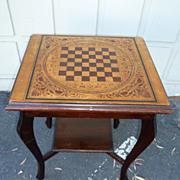 REDUCED Painted pine checkerboard table