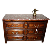 REDUCED 17th century: Rare Louis XIV period chest of drawers