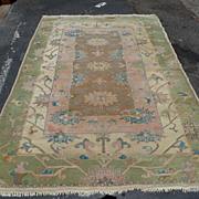 Hand-knotted Persian rug with interesting spiritual design