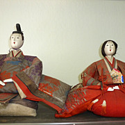 REDUCED Pair of Japanese dolls