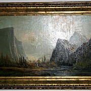 Late 19th century - California Yosemite painting by F. F. Schafer