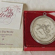 '73 Sterling Ornament � Oneida � Heirloom Series � Joy To The World