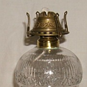 Atterbury Oil Lamp - �Cherry Ripe� Font on a Brass and Marble Base � Ca. 1870