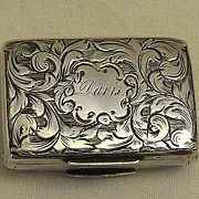 English Sterling Silver Vinaigrette � Birmingham � 1840
