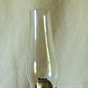 Blue Clam Broth or Translucent Glass Miniature Oil Lamp