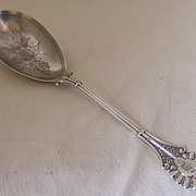 Coin Silver Serving Spoon � Emperor pattern by Knowles & Ladd
