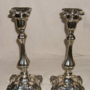English Silverplated Candlesticks � Early to Mid-19th Century
