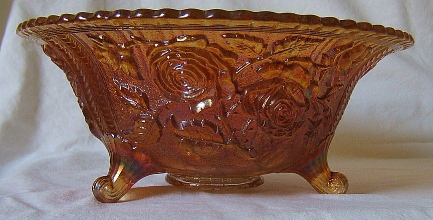 Footed centerpiece bowl imperial lustre rose from podnerandperdue on ruby lane - Footed bowl centerpiece ...