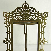 Antique Victorian Ornate Brass Easel Picture Frame Large 14 3/4""