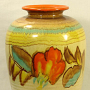 Vintage Art Pottery Vase Dumler & Breiden Germany Large