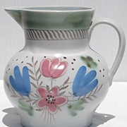 Vintage Buchan Scottish Floral Stoneware Jug Pitcher