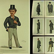 Antique 1882 Vanity Fair Prints Politician x 7 by Spy