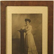 Antique William Notman Montreal Portrait of Lady Photo Photograph