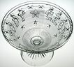 Rare Antique 1869 Henry Greener Pressed Glass Compote