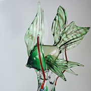 Vintage Murano Italian Art Glass Angel Fish Sculpture Figurine Italy