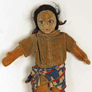 "Vintage 1930s Norah Wellings Pirate Doll Felt Cloth Girl 11"" Tall Rare"