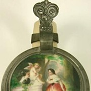 Antique Villeroy & Boch Mettlach Stein Hand Painted Lid with Cupid