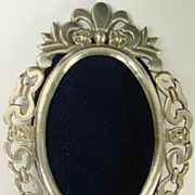 Vintage 800 Silver Oval Photo Picture Frame