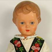 Vintage Reinische Gummi Schildkrot Celluloid Doll Glass Eyes