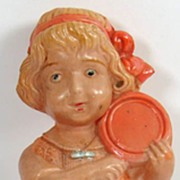 Vintage Celluloid Doll Girl with Lollipop Nippon