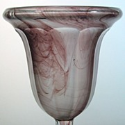 Vintage 1930s Art Deco Purple Cloud Glass Vase Davidson 924