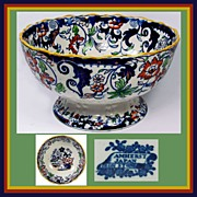 Antique Minton Amherst Japan Bowl // Mid 19th century Staffordshire Imari Pattern Fruit Bowl
