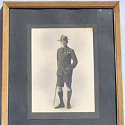 Lord Baden Powell Photo // Boy Scout Portrait Photograph circa 1915 Original FA Swaine London