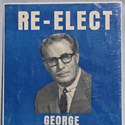 Vintage 1950s George Hees Election Poster Progressive Conservative Canada Toronto Riding