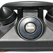 Vintage 1930s Northern Electric Phone // NU Handset 30s Art Deco Uniphone Manual Telephone