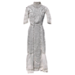 Antique Edwardian White Cotton & Lace & Embroidered Tea Dress Ladies Small
