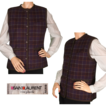 Vintage 1970s Yves Saint Laurent Vest Rive Gauche Paris Plaid Wool Ladies Size Small