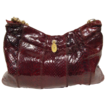 Vintage 1970s Snakeskin Purse // Burgundy