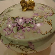 Antique Haviland Limoges Porcelain Dresser Jar