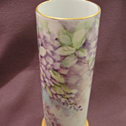 Pretty Purple Porcelain Bavaria Vase