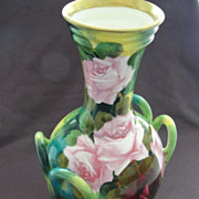 Incredible Austrian Vase Signed Van Houtte Numbered Royal Bonn Porcelain Roses