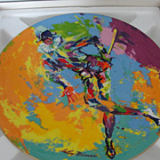 Leroy Neiman Signature Decorative Plate Royal Doulton Harlequin