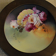 Pickard Signed Seidel Limoges Porcelain Hand Painted Framed Plate Antique