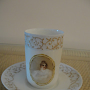 Adorable Limoges White eggshell Porcelain Demitasse Cup and Saucer