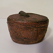 Antique Wood & Burch Bark Tobacco Snuff Box