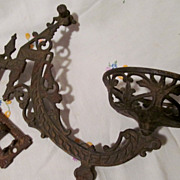 Cast Iron Fancy Kerosene Lamp Bracket, Ideal Stover Mfg Co