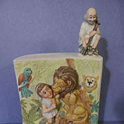 3-D Aesop's Fable,Androcles and the Lion Music Box, Decanter..Fred Lammert 1977