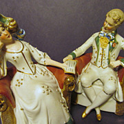 "Germany Porcelain  5 1/4""  Lady,Gent, Couple Figurines"