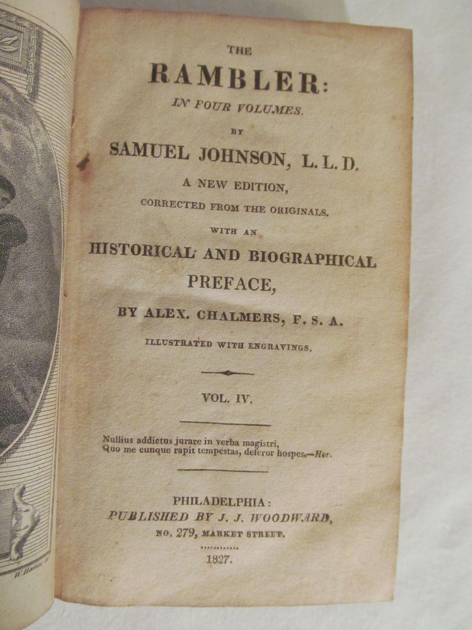 Samuel johnson rambler essays